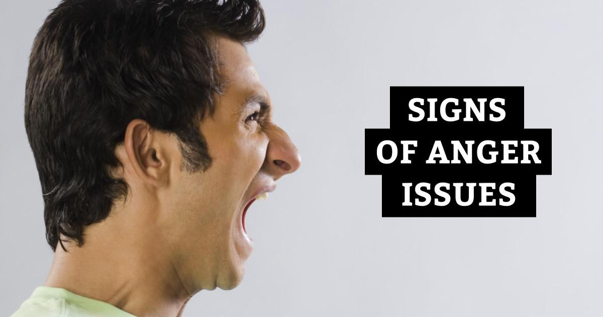 what are anger issues symptoms